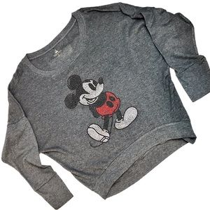 DISNEY PARKS Bling Mickey Mouse Slouch Sweatshirt